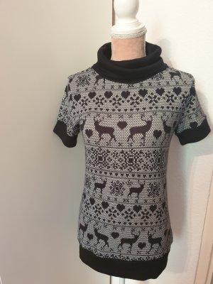 kurzarm Pullover mit Weihnachtsmuster