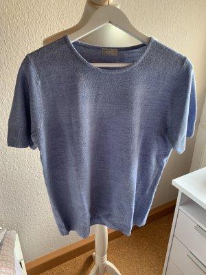 Sure Sweter z krótkim rękawem błękitny