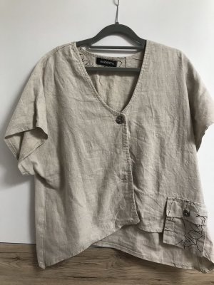 Burnetto Top extra-large beige clair lin