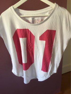 Nike Sports Shirt white-raspberry-red