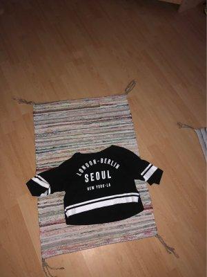H&M T-shirt czarny-biały