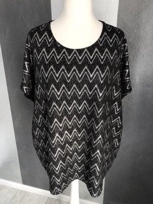 Janina Oversized shirt zwart-zilver