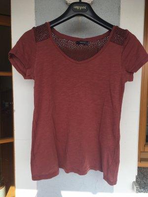 Kurzarm Shirt mit Stickstruktur
