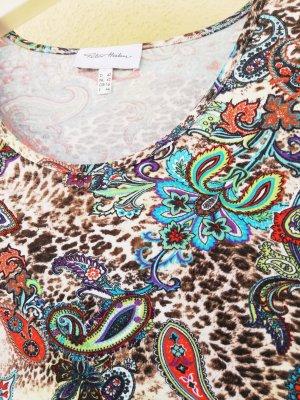 Kurzarm-Shirt mit türkis Paisleymuster von Peter Hahn