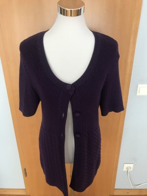 Street One Short Sleeve Knitted Jacket dark violet
