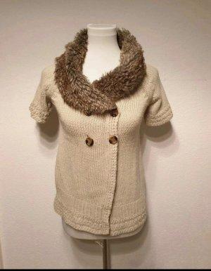 Zara Vestido de lana marrón arena