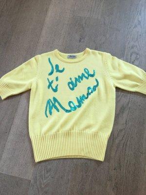 Sweater met korte mouwen geel