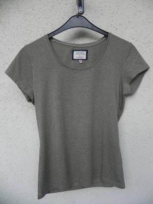 Peckott T-Shirt green grey-olive green mixture fibre