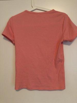 Zara T-shirt różowy neonowy