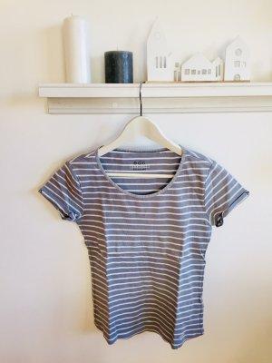 Kurzarm T-Shirt blau-weiss gestreift von ECD Esprit