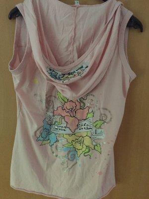 Camicia con cappuccio rosa-rosa chiaro Cotone