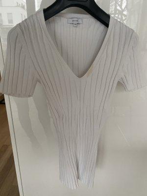 Reiss Camisa acanalada blanco