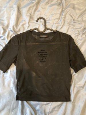 Kurzarm transparentes Shirt Gr S