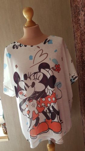Kurzarm Tunika Onesize (40/42) Shirt Feinstrick süsser Print