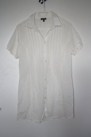 Kurzarm weiße Bluse von Kenny´s Gr. 38
