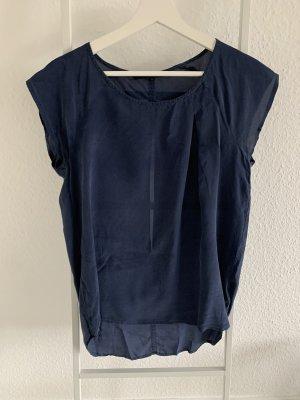 Minimum Blouse à manches courtes bleu foncé