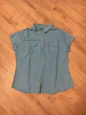 Biaggini Short Sleeved Blouse light blue
