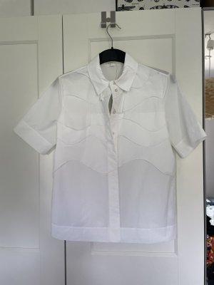 COS Short Sleeved Blouse white