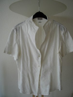 Brookshire Short Sleeved Blouse white cotton
