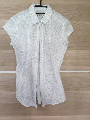 Reserved Short Sleeved Blouse white-dark blue