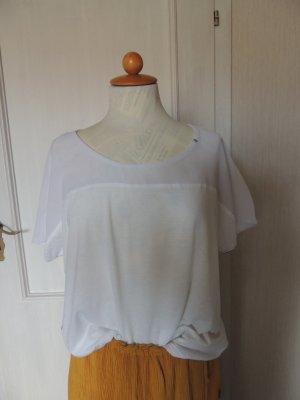 Gas Blusa de manga corta blanco Algodón