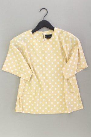 Kurzarmbluse Größe 40 gepunktet Vintage gelb