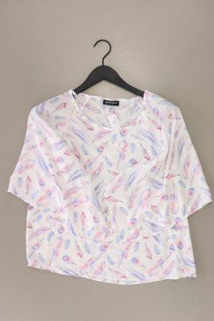 Kurzarmbluse Größe 40 weiß aus Polyester