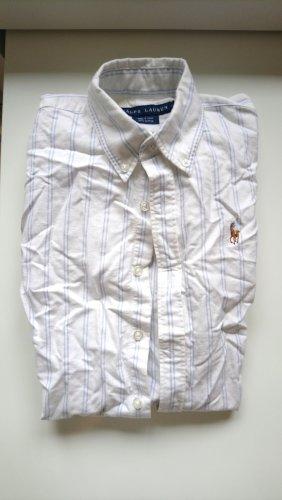 Ralph Lauren Blouse à manches courtes blanc-bleu azur