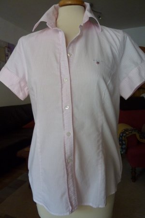 Kurzarmbuse von GANT rosa/weiß gestreift Größe M / 40