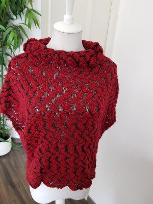 Rinascimento Sweter z krótkim rękawem ciemnoczerwony