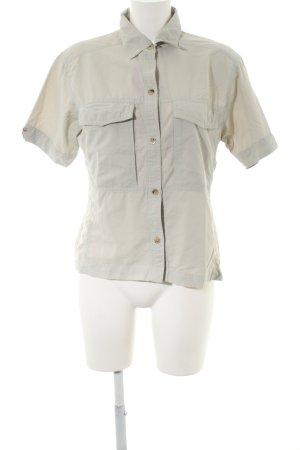 Shirt met korte mouwen lichtgrijs casual uitstraling