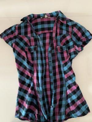 Tally Weijl Chemise à manches courtes violet-bleu