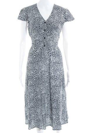 Sukienka z krótkim rękawem ciemnoniebieski-biały Na całej powierzchni