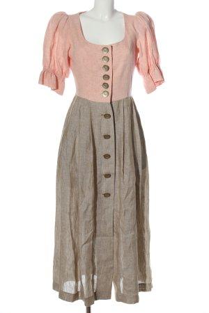 schwaiger handicraf Kurzarmkleid pink-hellgrau Elegant