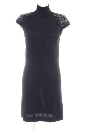 Kurzarmkleid schwarz Elegant