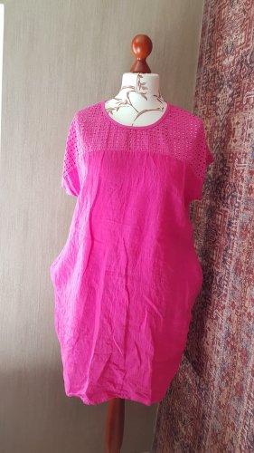 Made in Italy Sukienka tunika magenta Bawełna