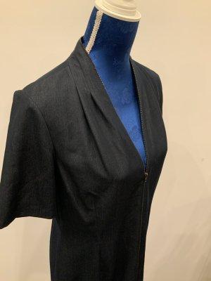 Tahari Shortsleeve Dress dark blue polyester