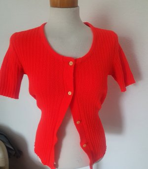 Crochet Sweater bright red-neon red