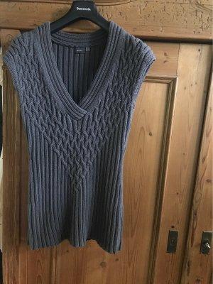 Mexx Sweter z krótkim rękawem szary