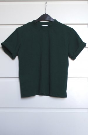 Shang yi Short Sleeve Sweater dark green-green