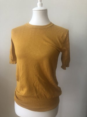 Zara Knit Short Sleeve Sweater gold orange