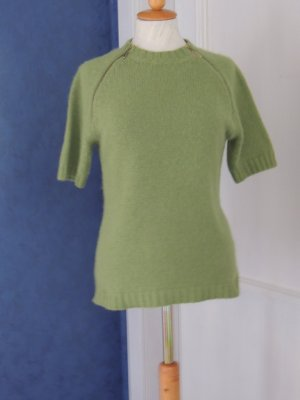 Anna Rita N Sweater met korte mouwen grasgroen Mohair