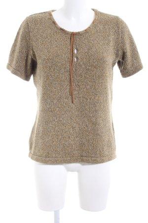 eggl Jersey de manga corta marrón moteado look casual