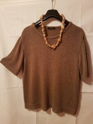 Fine Knitted Cardigan brown cotton