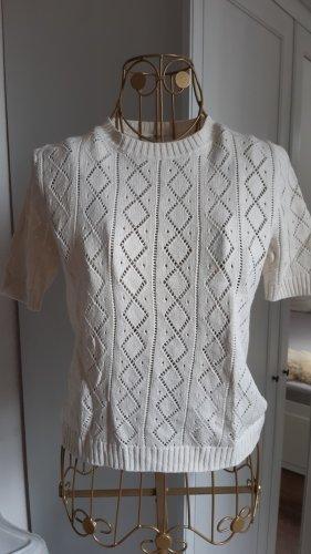 Monki Short Sleeve Sweater oatmeal