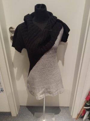 Short Sleeve Sweater black-light grey