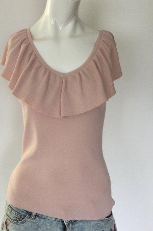 Hallhuber Donna Short Sleeve Sweater dusky pink