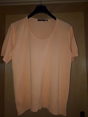 Mark Adam Short Sleeve Sweater light orange cotton