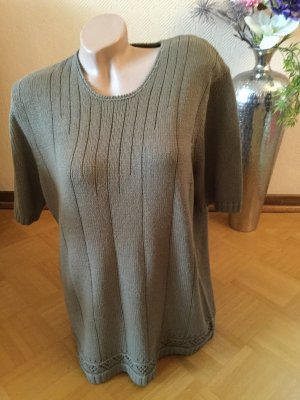 Pier Angelini Short Sleeve Sweater grey brown