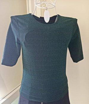 Zara Sweter z krótkim rękawem petrol